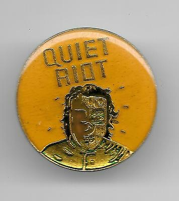 Vintage Quiet Riot Music Group e4a old enamel Pin