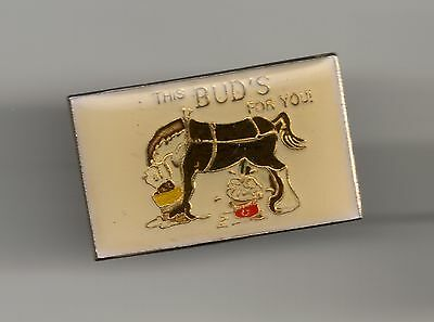 Vintage This Bud's For You old enamel pin
