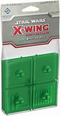 Fantasy Flight Games Star Wars X-Wing Green Bases & Pegs