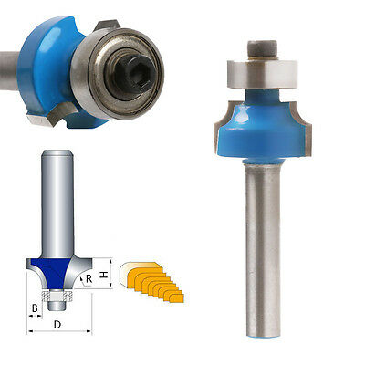"New 1/4"" Radius 1/4"" Shank Round Over Beading Edging Router Bit Woodworking Tool"