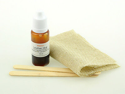 Leather repair kit strong adhesive glue, rips tares cuts holes on leather goods
