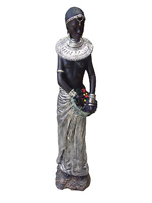African Lady Woman Statue Figurine Large 88 cm