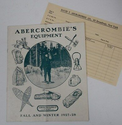 1927-28 ABERCROMBIE CAMP catalog ILLUSTRATED camping & hunting gear Fall Winter