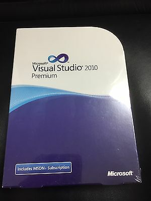 Visual Studio 2010 Premium, Vollversion, Win, DVD, Eng, mit MwSt Rechnung