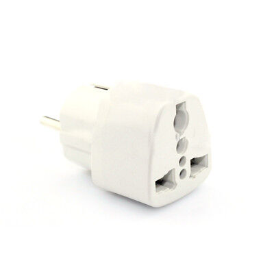 x1 Portable Universal AU UK US to EU AC Power Socket Plug Travel Charger Adapter