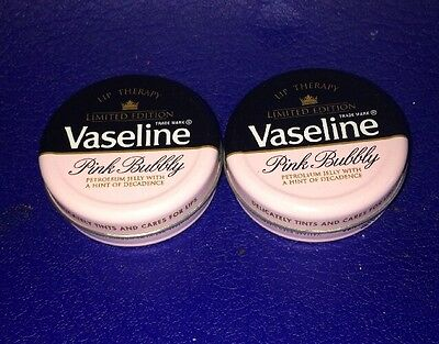 Vaseline PINK BUBBLY (Limited Edition)  2 x 20g Tins