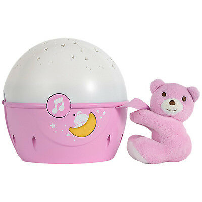 Chicco Next 2 Stars Projecter Baby Night Light/soothing Music - Pink- New