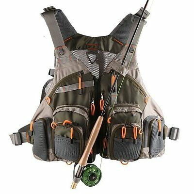 NEW Summer Outdoor Multi-Pocket Fly Fishing Vest Hunting Sports Waistcoat Jacket