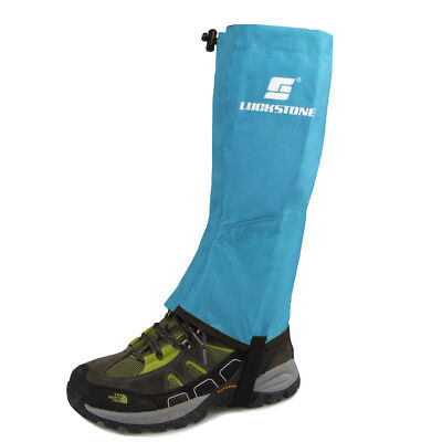 Blue Large Size Waterproof Hiking Climbing Snow Legging Gaiters Leg Covers