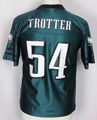 Trotter #54 Philadelphia Eagles Nfl American Football Jersey Youths Large Rare