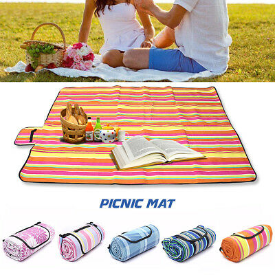 200x150cm Extra Large Picnic Blanket Rug Mat Waterproof Rug Travel Camping Beach