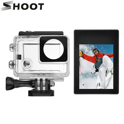 LCD BacPac Touch Screen Display+Touch Waterproof Case+Back Door Case f GoPro 3+4