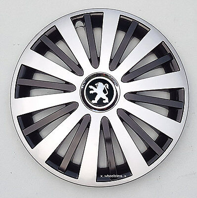 "Brand new silver 16"" wheel trims hubcaps to fit Peugeot Partner,Expert,407,308"