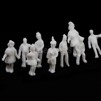100pcs White People Passangers Figures Model Train Diorama Layout 1:200 Z