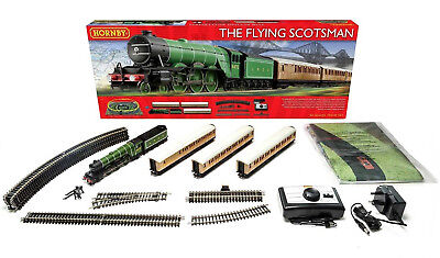 R1167 Hornby Flying Scotsman Model Electric Train Set OO Gauge New & Boxed Gift