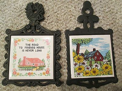 Cherry & Cathy Tile 2 Trivets Wrought Iron The Road to Friends House