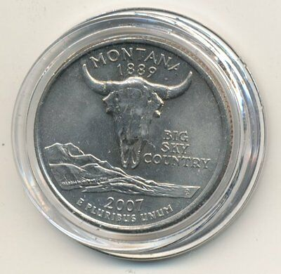 "2007 D USA State Quarter enclosed in Plastic Case - Montana ""Big Sky Country"""