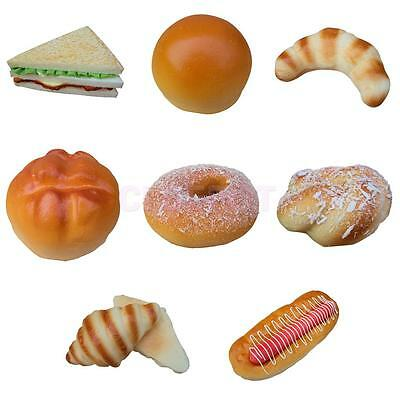 Realist Fake Bread Kitchen Food Bakery Display Sample Kids Pretend Play Toy Gift