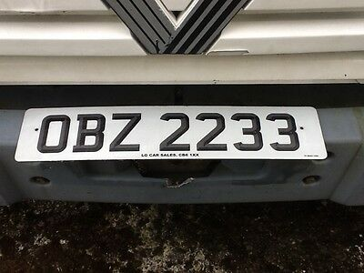 OBZ 2233 private number plate