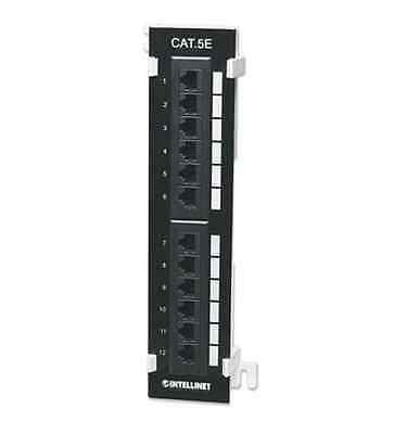 NEW INTELLINET 162470 Intellinet Cat5e UTP Wall-Mount 12-Port Patch Panel -