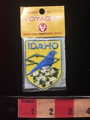 Vtg IDAHO Voyager Collectors Series Patch State Bird & Flower 69V1