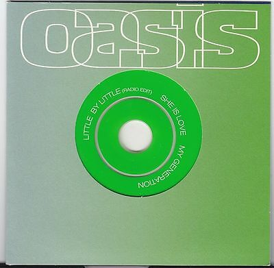 OASIS Little By Little 3t UK PROMO CD Noel Gallagher WHO Coversong MY GENERATION