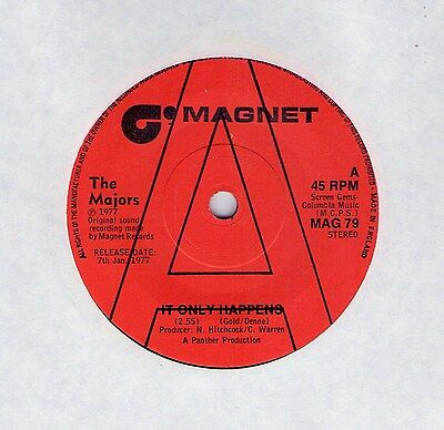 "Top Modern Soul (Hear!) THE MAJORS ""It Only Happens"" UK Magnet Promo"