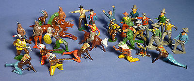 BRITAINS CRESENT JOHILLCO TIMPO Zinn Figur Cowboy Indianer Lead Figure G166