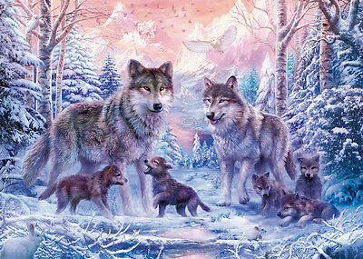 19146 Ravensburger Arctic Wolves 1000Pc [Adult Jigsaw Puzzle] New In Box!