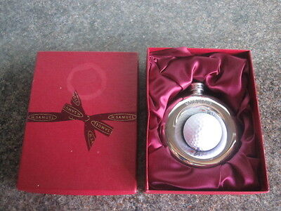 Golf - Hole In One - Hip Flask - Novelty Design - With Box