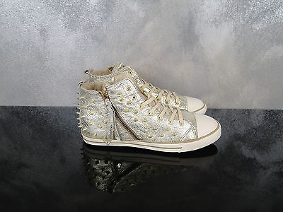 Guess Sneakers Donna Shoes Sneakers Tg 39 Colore Argento Con Borchie