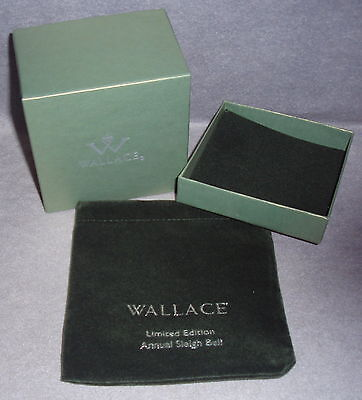 Genuine Wallace Silver Sleigh Bell Replacement Ornament Pouch Box Only