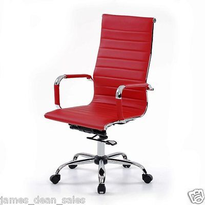 Home Furniture Chair Task Office Funky Vintage Computer Swivel Red Retro Desk