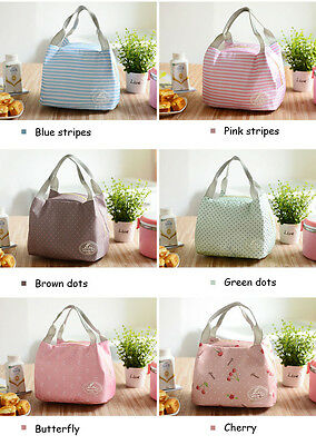 Women Lunch bag Insulated Thermal Snack Lunch Box Carry Tote Storage Bag Travel