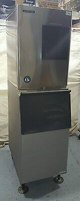 Used Hoshizaki Air Cooled Ice Maker Machine W/Bin - 280lb - KM-280MAH