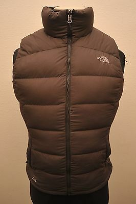 North Face Womens Medium Goose Down 700 Gilet Brown Ga95