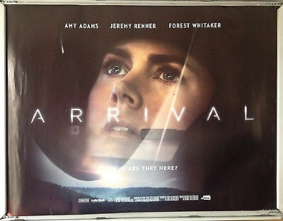 Cinema Poster: ARRIVAL 2016 (Banks Quad) Amy Adams Jeremy Renner Forest Whitaker