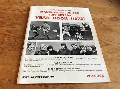 Manchester United Supporters Year Book 1972 George Best On Cover