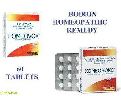 Boiron Homeovox 60Tabs Hoarseness Strained Vocal Cords