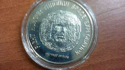 1996 Liberia $ 50.00 Face on Mars coin - Space Exploration