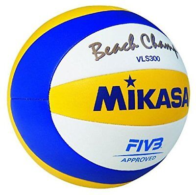 MIKASA VLS300 Official FIVB Beach Volleyball Blue/Yellow