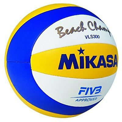 Mikasa VLS300 Beach Champ Volleyball, Official size, Blue/Yellow