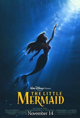THE LITTLE MERMAID MOVIE POSTER 2 Sided ORIGINAL Advance ROLLED 27x40
