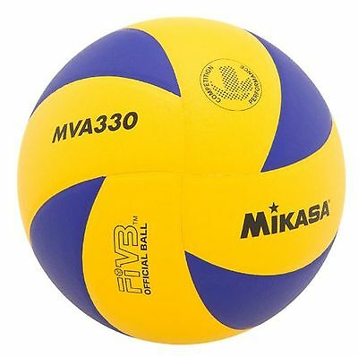 Mikasa MVA330 Spiral Club FIVB Volleyball Blue/Yellow