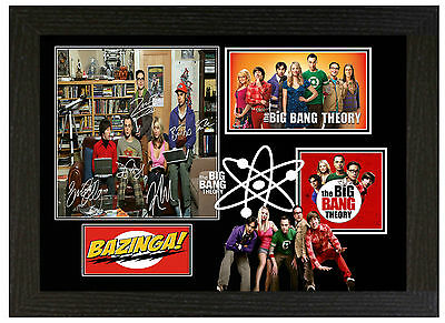 Big Bang Theory - A3 Signed Framed Collectors Display Picture
