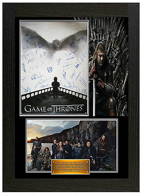 Game Of Thrones - A3 Signed Framed Collectors Display Picture