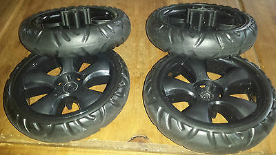 Mamas And Papas Swirl pushchair replacement back wheel 2 pairs
