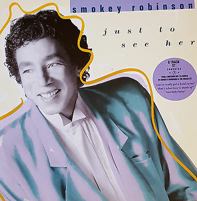 "Smokey Robinson ‎– Just To See Her 12"" Single"