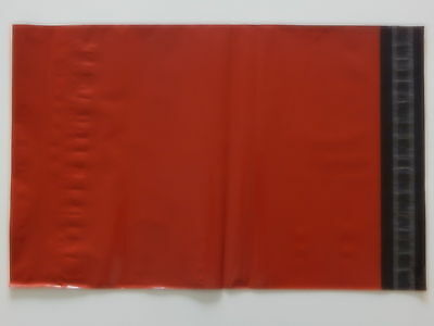 """Red Coloured Poly Postal Bags Parcel Bags Large Letter 250X350mm 10 x 14"""" Mail"""