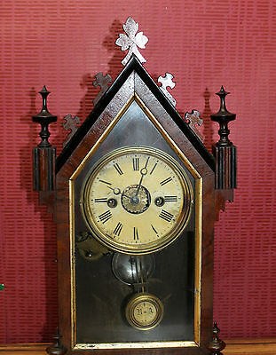 *Antique Mantel Clock  Bracket Clock*of 19th century *Alarm Clock *JUGHANS*